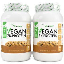 VEGAN 7K-Protein - 2kg / 2000g pflanzliches Eiweißpulver aus 7 Quellen Cookies