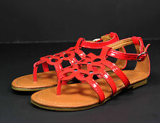 sacha-36k Kids Toddlers Youth Wedding Party Sandals Girls' Dress Shoes Red 10
