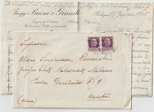 ITALY 1945 RSI 50C X2 VARIETY OVERPRINT MOVED ON COVER TO  CANTU COMO