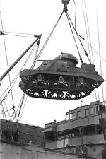 1930s-40s (4 x 6) Repro US RP- Panzer- Medium Tank M3- Lee- Grant- Lend Lease