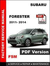 SUBARU FORESTER 2011 - 2014 FACTORY SERVICE REPAIR FSM MANUAL + WIRING DIAGRAM