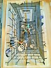 Halloween Woven Rug Skeletons In A Dungeon Vintage 2009 Mint Condition