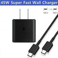 For Samsung S21 Ultra S21 Note 10 Plus 45W Super Fast Wall Charger Type-C Cable