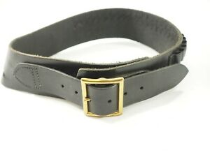 "New Hunter Blk Leather Wyoming Drop Cartridge Belt .46"" RH .44 cal size 32-34"