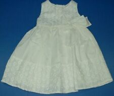 Cherokee White Eyelet Trim Sleeveless Lined Summer Party Wedding Dress 12M