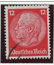 GERMANY;    1934 early Hindenburg issue fine used 12pf. value