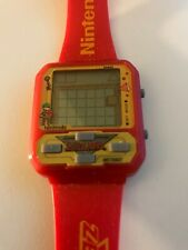 1989 NELSONIC MZ BERGER LEGEND OF ZELDA NINTENDO RED GAME WATCH MINT WORKS WOW!!