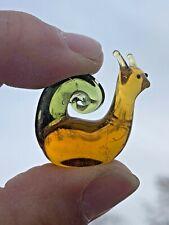 Vintage Glass Baron Blown Glass Amazing Detail SNAIL & ANTENNAE Miniature ❤️sj3j
