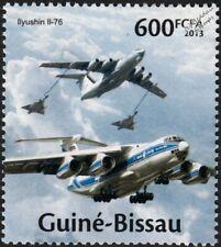 ILYUSHIN IL-76 Russian Transport / Tanker Aircraft Stamp (2013 Guinea-Bissau)