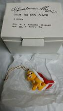 Retired Vintage Grolier OLIVER Disney Christmas Magic Ornament 26231 136 w/ Box