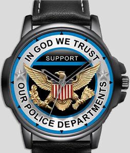 Police Department Eagle Art Stylish Rare Quality Wrist Watch