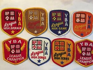 Lot Of 8 YBA BP AA Youth Bowling Patches