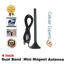4-inch Dual Band Mini Magnet Mount Antenna with FME Female Connector