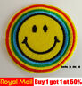 Smile Smiley Icon Emoticon Emoji Iron On/ Sew On Embroidered Patch Badge