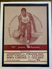 1957 E. Regional Basketball Tourn.Program W.Va-Canisius N.Car.-Yale Ct.-Syracuse