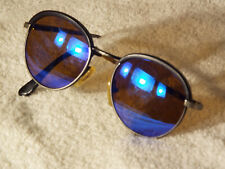 Vintage Revo 973 001 Advanced Circle sunglasses,ITALY,Blue, good cond.except,