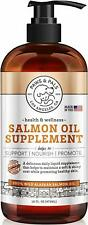 16oz Pure Wild Alaskan Salmon Oil Food Supplement Natural For Dogs Cats Omega 3