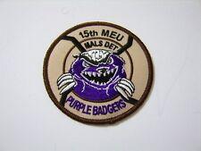 Usmc Aviation Unit Patch-15th Meu Mals Det Purple Badgers:Ga13-1