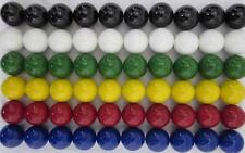 """60 LARGE 1"""" (25mm) Replacement Chinese Checker Board game Solid GLASS MARBLES"""