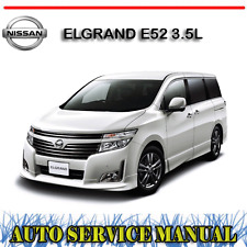 NISSAN ELGRAND E52 3.5L 2010-2014 WORKSHOP SERVICE REPAIR MANUAL ~ DVD