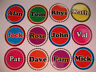 """16 LAWN BOWLS STICKERS 1"""" YOUR NAME   CROWN GREEN BOWLS FLAT & INDOOR BOWLS"""