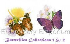 *Offer* Butterflies Collections 1 & 2 - Machine Embroidery Designs On 2 Cds/Usb