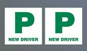 Halfords P Plates New Driver X 2. Magnetic. New.