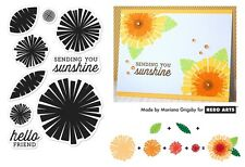 Hero Arts Clear Stamps - Colour Layering Graphic Flowers & Leaves - Sunshine