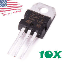 10pcs TIP120 Darlington Transistors TO-220 60V 5A NPN BJT ST for Arduino US