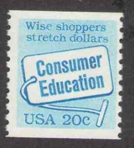 US. 2005. 20c. Consumer Education. Coil Single. MNH. 1982