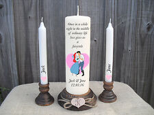 Personalised Wedding Unity Candles Set Disney Little Mermaid Gift Centrepiece