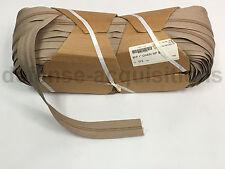 """YKK ZIPLON® Zipper 9CF 1"""" Chain Coil Zipper Tape TAN Military Grade - Per Yard"""