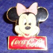 CD089 Vtg Walt Disney Minnie Mouse Coca Cola Coke Lapel Pin