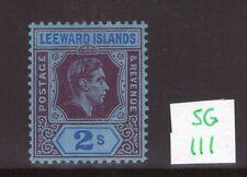 Leeward Islands George VI SG111 2/- ,single, multi-colour lightly hinged