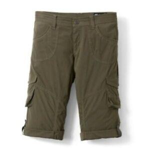 Kuhl Size 12 Kontra Roll Up Convertible Cargo Shorts Capris Green Flap Pockets