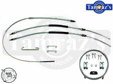 73-77 Chevelle Parking Brake Front Middle Rear Cable Set - Original Material