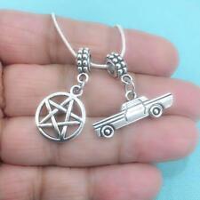 SUPERNATURAL FAN: Pentagram and Impala Charms Fit Beaded Bracelet.