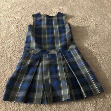 Parker Girls Size 10 Blue/Black Plaid Uniform Jumper Dress