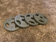 """NEW CAP 5 LB Barbell Weight Plates 1"""" Standard Hole Weight Set of 4(20 Lb Total)"""