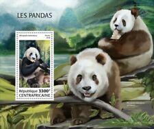 Central Africa - 2018 Pandas on Stamps - Stamp Souvenir Sheet CA18504b