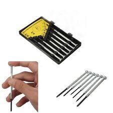 Hot 6Pcs Precision Jewelers Watch Screwdrivers Set Kit Phillips & Flat Head Tool