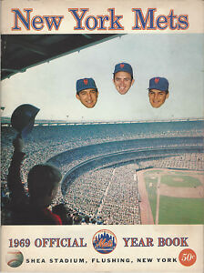 1969 New York Mets Official Yearbook Shea Stadium