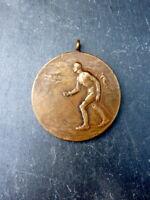 ausgezeichnete alte Bronze Medaille Langlauf Sport Ski 1. Preis 1929 Anhänger