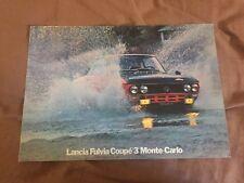 1970s Lancia Fulvia Coupe 3 Monte Carlo Prestige Color Brochure Prospekt
