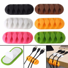 Black Cable Reel Organizer Desktop Clip Cord Management Headphone Wire Holder TR