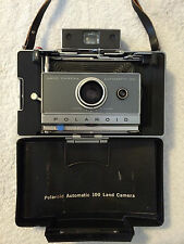 Polaroid Automatic 100 Land Camera w/ 19 M3 Flashbulbs & Flashgun Access CLEAN!!