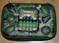 Smiggle Calculator Play Hardtop Pencil Case Green Camouflage Sport football