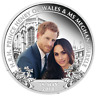 2018 Royal Wedding Prince Henry Ms. Meghan Markle 1oz $1 Silver Proof Coin