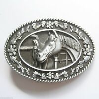 Western Horse and Saddle Cowboy Rodeo Metal Belt Buckle