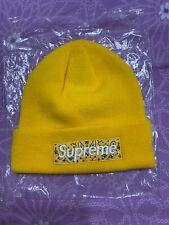 Supreme Bandana Box Logo Beanie FW19 Yellow